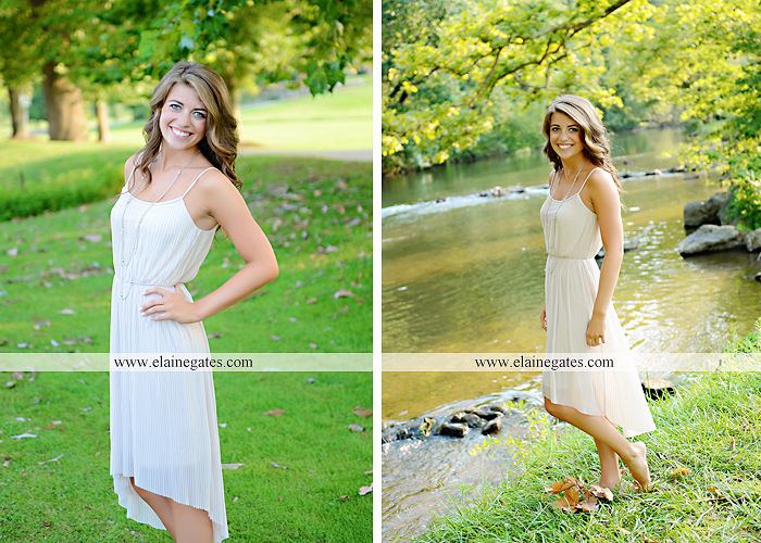 central pa senior portrait photographer wildflowers stream creek water rock fence grass hg 3