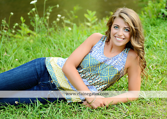 Central Pa Senior Portrait Photographer Wildflowers Stream