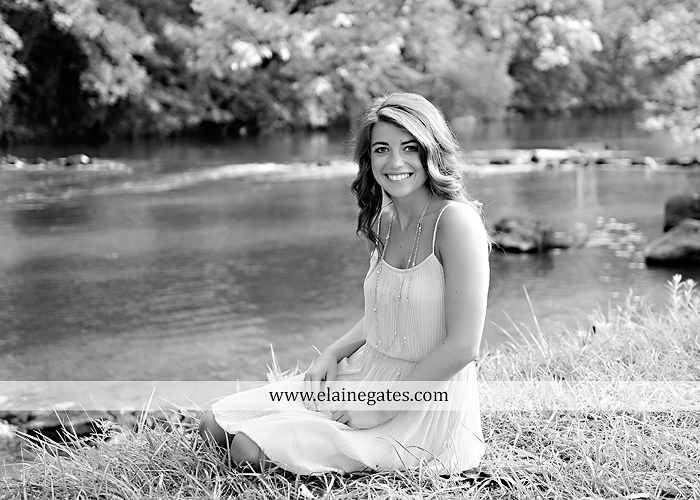 central pa senior portrait photographer wildflowers stream creek water rock fence grass hg 9