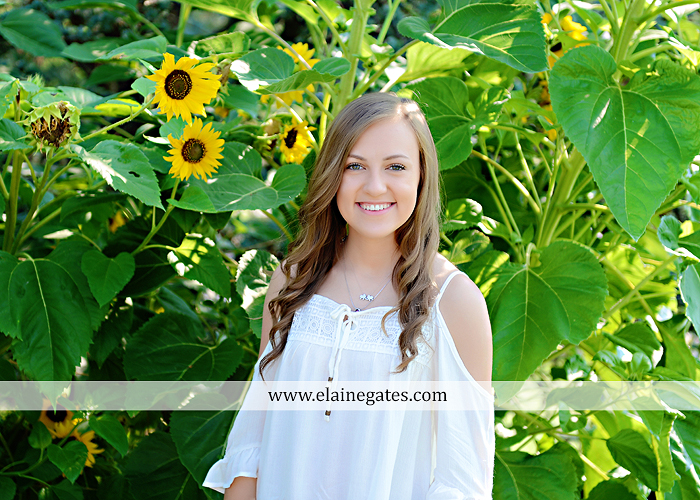 central pa senior portrait photographer wildflowers sunflowers ej 4
