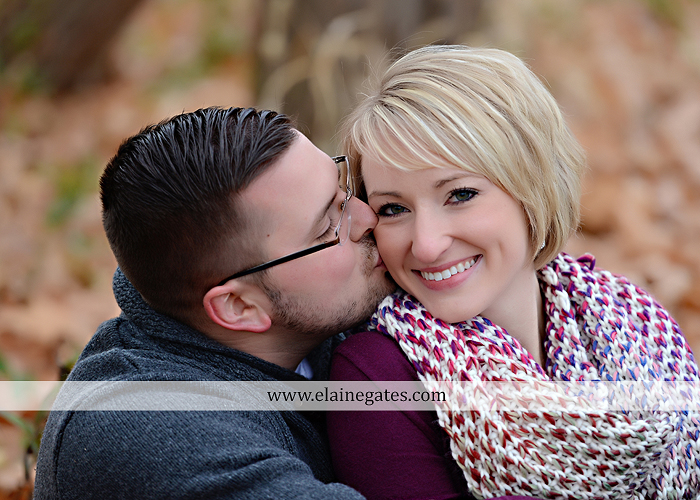Mechanicsburg Central PA portrait photographer engagement outdoor water creek stream holding hands couple trees hug dog dock field lake leaves fall kiss jd 10
