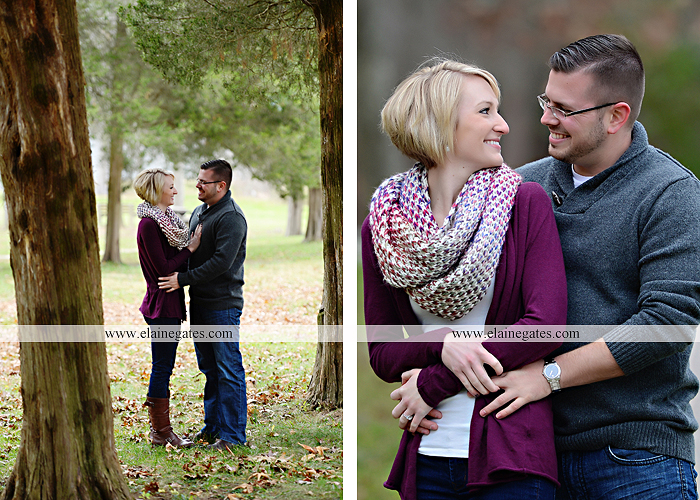 Mechanicsburg Central PA portrait photographer engagement outdoor water creek stream holding hands couple trees hug dog dock field lake leaves fall kiss jd 2