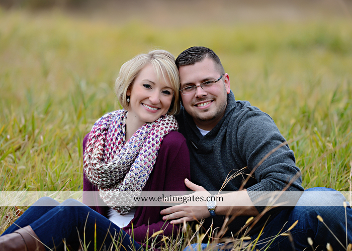 Mechanicsburg Central PA portrait photographer engagement outdoor water creek stream holding hands couple trees hug dog dock field lake leaves fall kiss jd 5