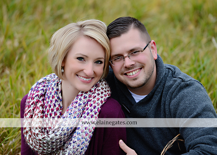 Mechanicsburg Central PA portrait photographer engagement outdoor water creek stream holding hands couple trees hug dog dock field lake leaves fall kiss jd 6
