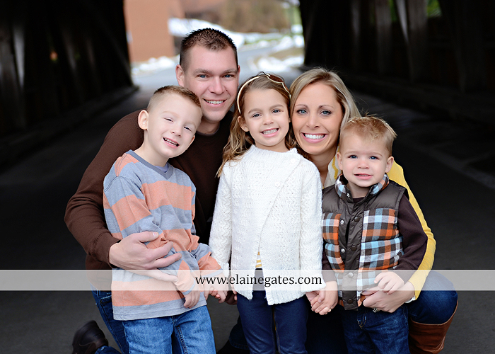 Mechanicsburg Central PA portrait photographer family outdoor kids father mother son daughter brother sister covered bridge holding hands kiss hug baby boy girl kkds 1