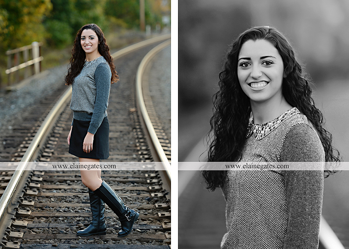 Mechanicsburg Central PA senior portrait photographer outdoor grass field fence city urban leaves brick stone wall steps bridge railroad tracks rocks ss 7