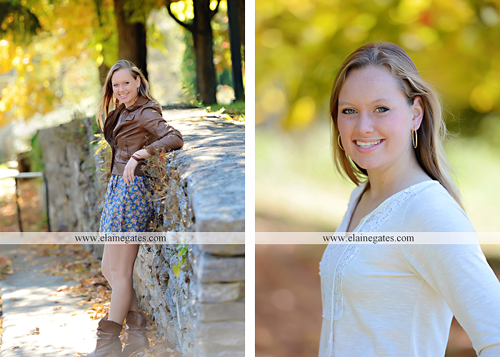Mechanicsburg Central PA senior portrait photographer outdoor grass field leaves fall stone rock wall ivy fence mm 4