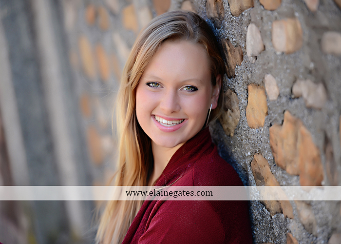 Mechanicsburg Central PA senior portrait photographer outdoor grass field leaves fall stone rock wall ivy fence mm 6