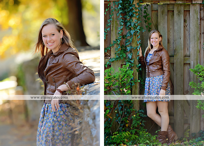 Mechanicsburg Central PA senior portrait photographer outdoor grass field leaves fall stone rock wall ivy fence mm 8