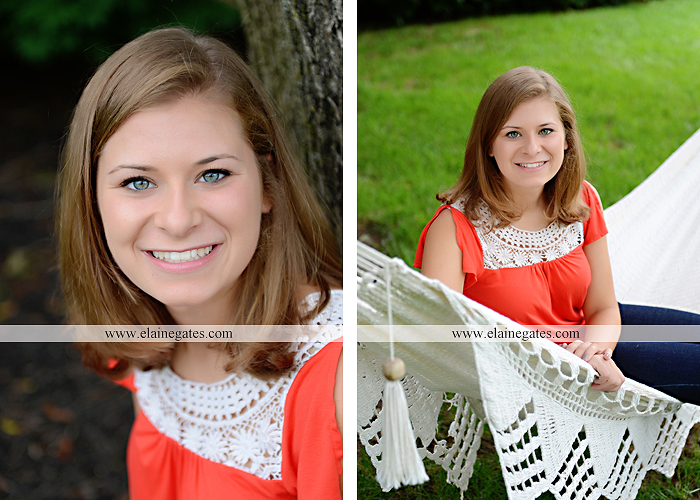 central pa senior portrait photographer tree hammock swing stone wall fence ivy wildflowers sr 1