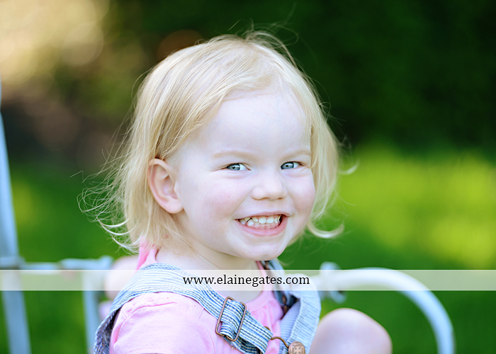 Mechanicsburg Central PA portrait photographer children kids girl outdoor bench grass rope swing overalls 2 year old az1