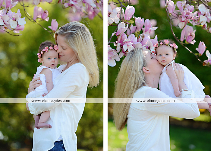 Mechanicsburg Central PA portrait photographer girl daughter mother trees flowers hug kiss grass bushes rp 1