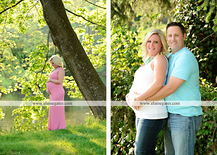 Mechanicsburg Central PA portrait photographer maternity trees grass water creek stream couple holding hands love heart hug lc 7