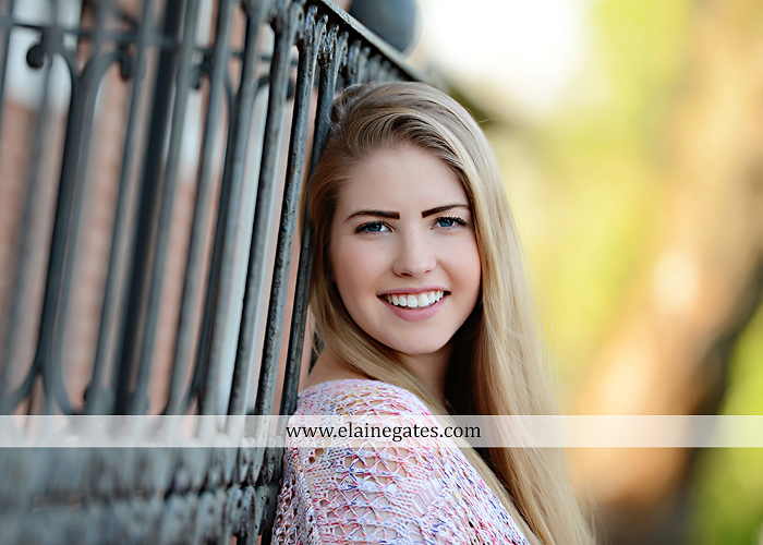 Mechanicsburg Central PA senior portrait photographer outdoor grass trees bushes field wildflowers suitcase rails brick stone wall urban st 5