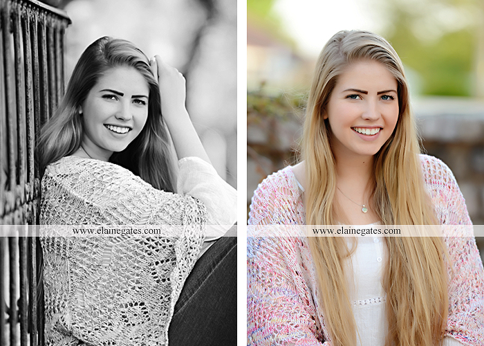 Mechanicsburg Central PA senior portrait photographer outdoor grass trees bushes field wildflowers suitcase rails brick stone wall urban st 7