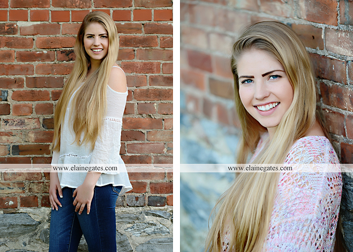 Mechanicsburg Central PA senior portrait photographer outdoor grass trees bushes field wildflowers suitcase rails brick stone wall urban st 8