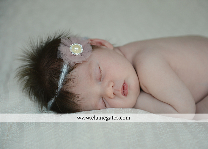 Mechanicsburg Central PA newborn portrait photographer baby girl father dad mother mom parents blanket sleeping bow headband dj 04