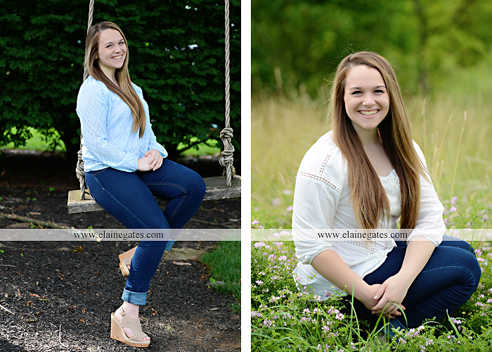 Mechanicsburg Central PA senior portrait photographer outdoor girl female wooden swing field wildflowers wood wall road trees hammock steel bench go 01