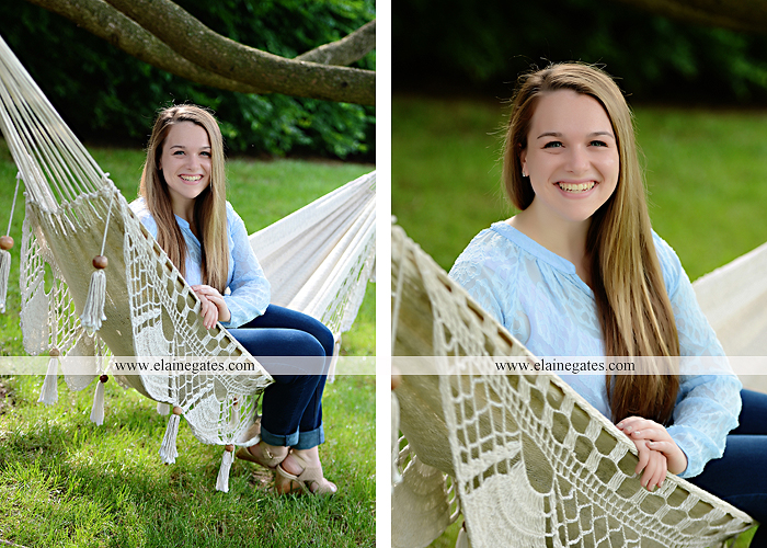 Mechanicsburg Central PA senior portrait photographer outdoor girl female wooden swing field wildflowers wood wall road trees hammock steel bench go 09