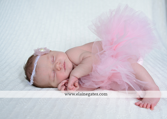 Mechanicsburg Central PA newborn portrait photographer girl outdoor sleeping hat bow blanket basket wooden floor pink white tutu mother father parents grass trees 14