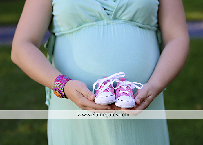 Mechanicsburg Central PA portrait photographer maternity outdoor trees grass holding hands baby girl pink converse shoes 7