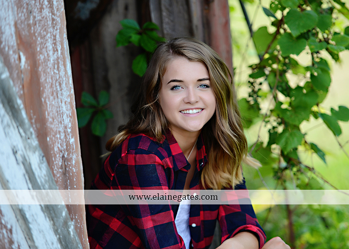 Mechanicsburg Central PA senior portrait photographer outdoor girl female fence trees woods field wooden swing rustic barn door wildflowers black eyed susans grass metal bench 07