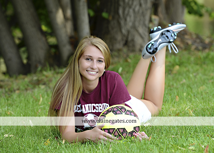 Mechanicsburg Central PA senior portrait photographer outdoor girl female soccer grass trees hammock field scarf covered bridge rock road bridge brick wall stone wall wildflowers formal rm 01
