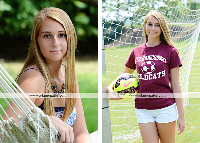 Mechanicsburg Central PA senior portrait photographer outdoor girl female soccer grass trees hammock field scarf covered bridge rock road bridge brick wall stone wall wildflowers formal rm 02