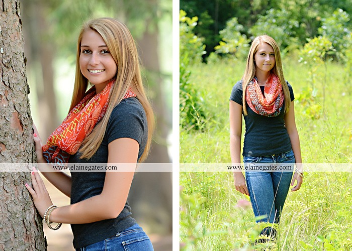 Mechanicsburg Central PA senior portrait photographer outdoor girl female soccer grass trees hammock field scarf covered bridge rock road bridge brick wall stone wall wildflowers formal rm 03