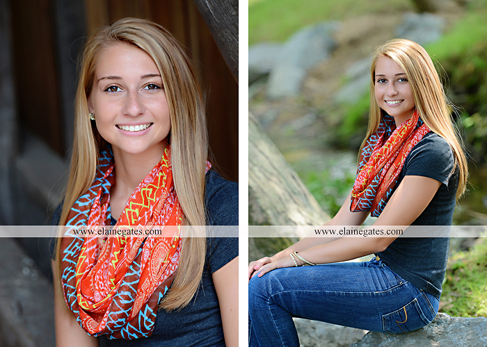 Mechanicsburg Central PA senior portrait photographer outdoor girl female soccer grass trees hammock field scarf covered bridge rock road bridge brick wall stone wall wildflowers formal rm 04