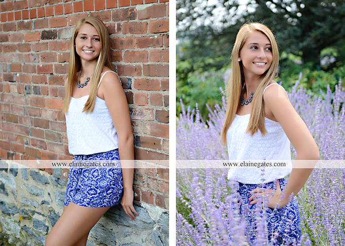 Mechanicsburg Central PA senior portrait photographer outdoor girl female soccer grass trees hammock field scarf covered bridge rock road bridge brick wall stone wall wildflowers formal rm 06