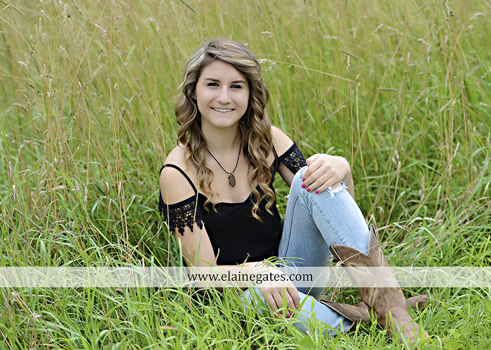 Mechanicsburg Central PA senior portrait photographer outdoor girl female tree grass water creek stream fence field road wildflowers hammock bench dg 03