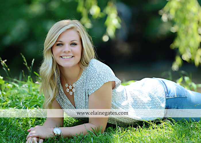 Mechanicsburg Central PA senior portrait photographer outdoor grass formal tree water stream creek fence field american flag usa ford pickup truck road brick wall stone wall wildflowers wooden swing 01