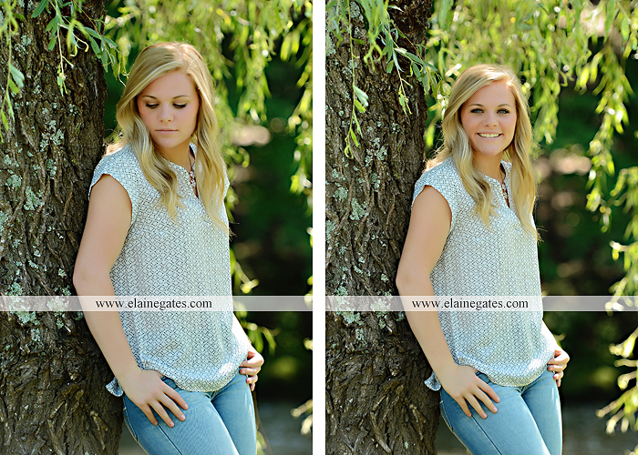 Mechanicsburg Central PA senior portrait photographer outdoor grass formal tree water stream creek fence field american flag usa ford pickup truck road brick wall stone wall wildflowers wooden swing 05