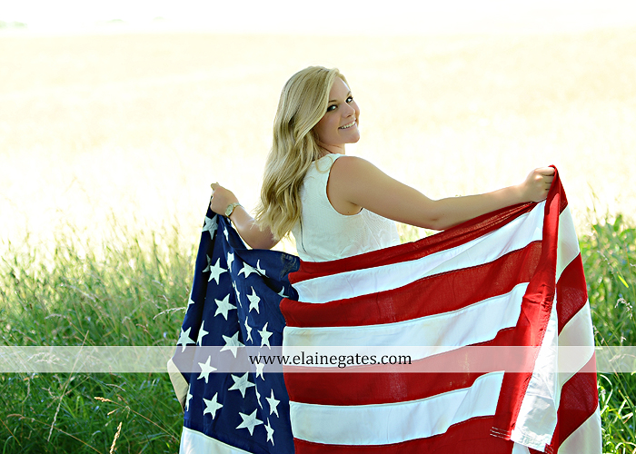 Mechanicsburg Central PA senior portrait photographer outdoor grass formal tree water stream creek fence field american flag usa ford pickup truck road brick wall stone wall wildflowers wooden swing 07