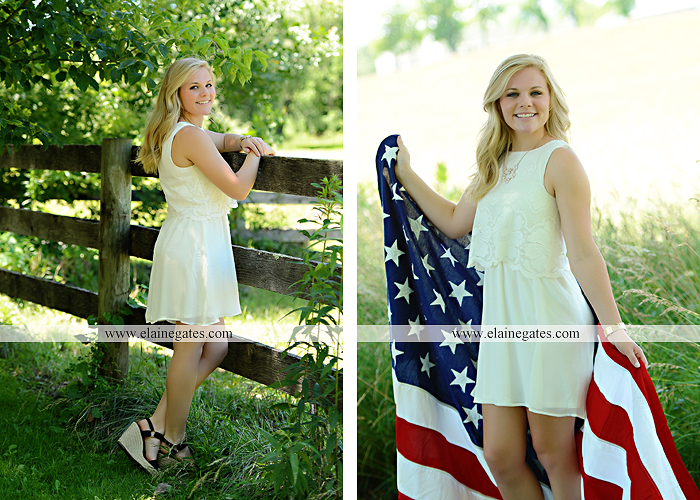 Mechanicsburg Central PA senior portrait photographer outdoor grass formal tree water stream creek fence field american flag usa ford pickup truck road brick wall stone wall wildflowers wooden swing 08