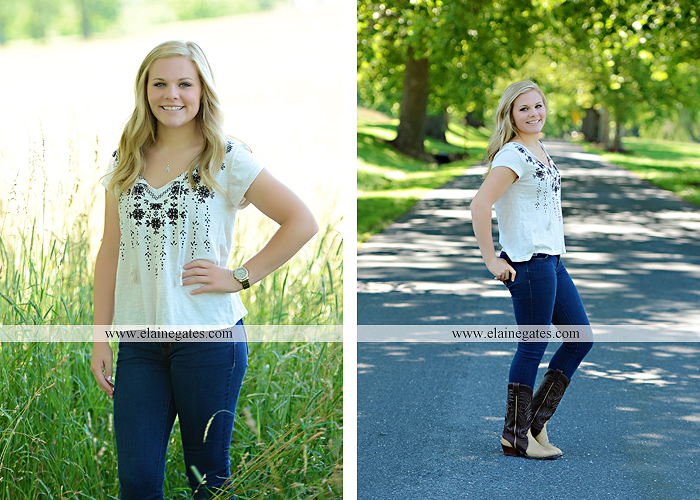Mechanicsburg Central PA senior portrait photographer outdoor grass formal tree water stream creek fence field american flag usa ford pickup truck road brick wall stone wall wildflowers wooden swing 13