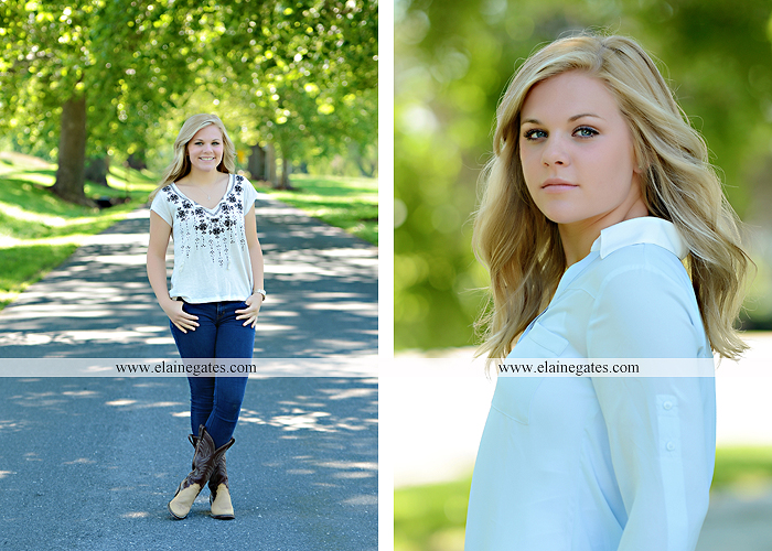 Mechanicsburg Central PA senior portrait photographer outdoor grass formal tree water stream creek fence field american flag usa ford pickup truck road brick wall stone wall wildflowers wooden swing 14