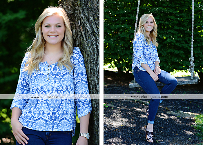 Mechanicsburg Central PA senior portrait photographer outdoor grass formal tree water stream creek fence field american flag usa ford pickup truck road brick wall stone wall wildflowers wooden swing 22