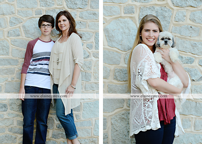 Mechanicsburg Central PA family portrait photographer outdoor carlisle dickinson college mother father sister brother parents dog trees grass stone wall adirondack chair mt 15