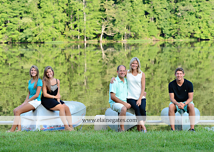 Mechanicsburg Central PA family portrait photographer outdoor mother father sisters brother parents dock water lake trees boat canoe path collage shirts pf 04