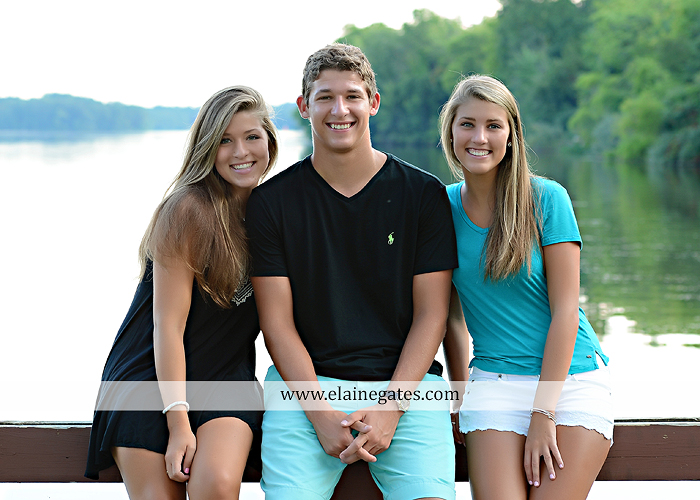 Mechanicsburg Central PA family portrait photographer outdoor mother father sisters brother parents dock water lake trees boat canoe path collage shirts pf 08