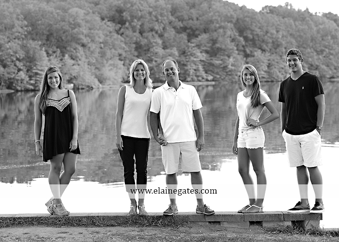 Mechanicsburg Central PA family portrait photographer outdoor mother father sisters brother parents dock water lake trees boat canoe path collage shirts pf 09