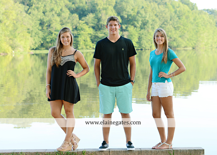 Mechanicsburg Central PA family portrait photographer outdoor mother father sisters brother parents dock water lake trees boat canoe path collage shirts pf 11