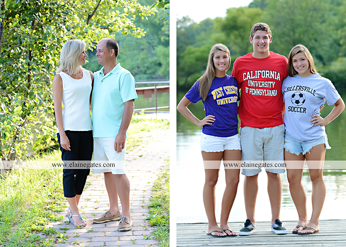 Mechanicsburg Central PA family portrait photographer outdoor mother father sisters brother parents dock water lake trees boat canoe path collage shirts pf 13