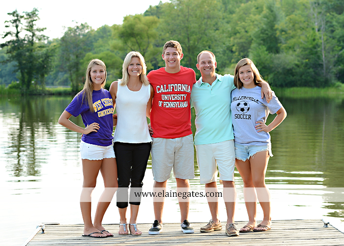 Mechanicsburg Central PA family portrait photographer outdoor mother father sisters brother parents dock water lake trees boat canoe path collage shirts pf 14