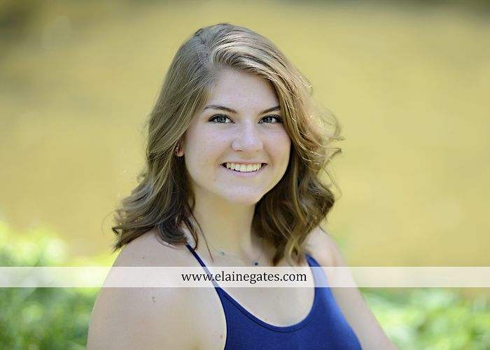 Mechanicsburg Central PA senior portrait photographer outdoor girl female water stream creek wildflowers grass fence tree field road hammock swing formal ab 01