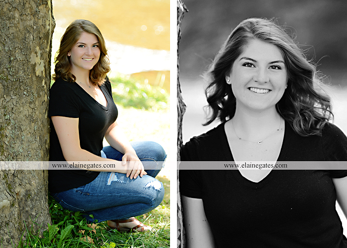 Mechanicsburg Central PA senior portrait photographer outdoor girl female water stream creek wildflowers grass fence tree field road hammock swing formal ab 04