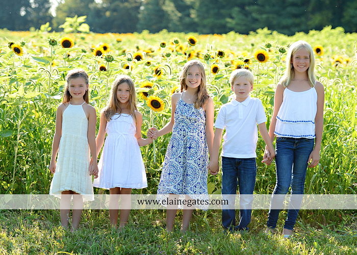 Mechanicsburg Central PA family portrait photographer outdoor girls boy sunflowers field forest trees path father mother cousins brother sister sisters siblings gf 01
