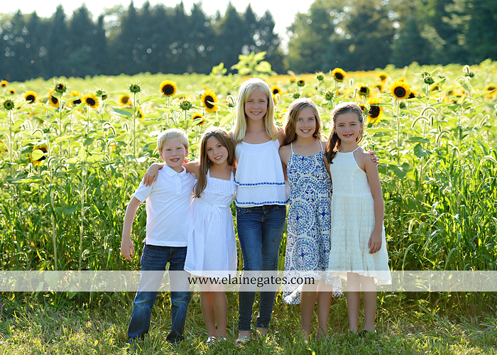 Mechanicsburg Central PA family portrait photographer outdoor girls boy sunflowers field forest trees path father mother cousins brother sister sisters siblings gf 02